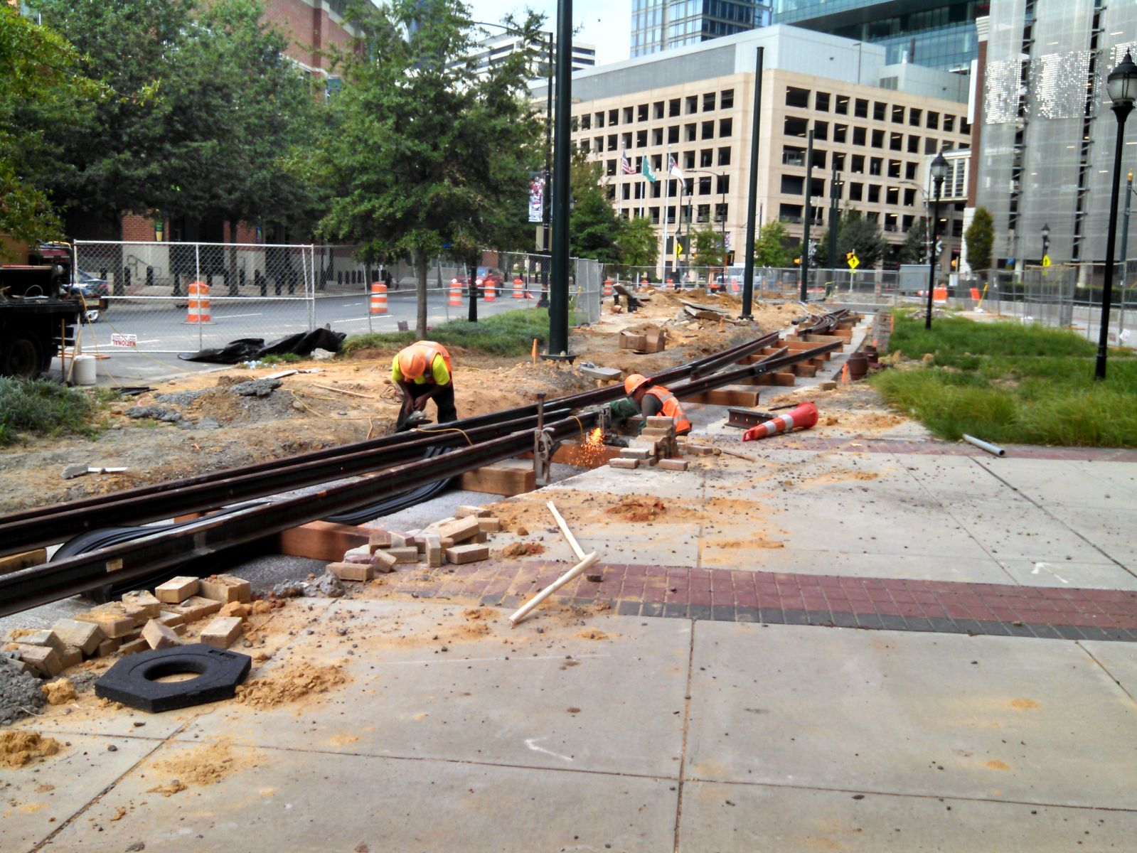 Streetcar maintenance tracks