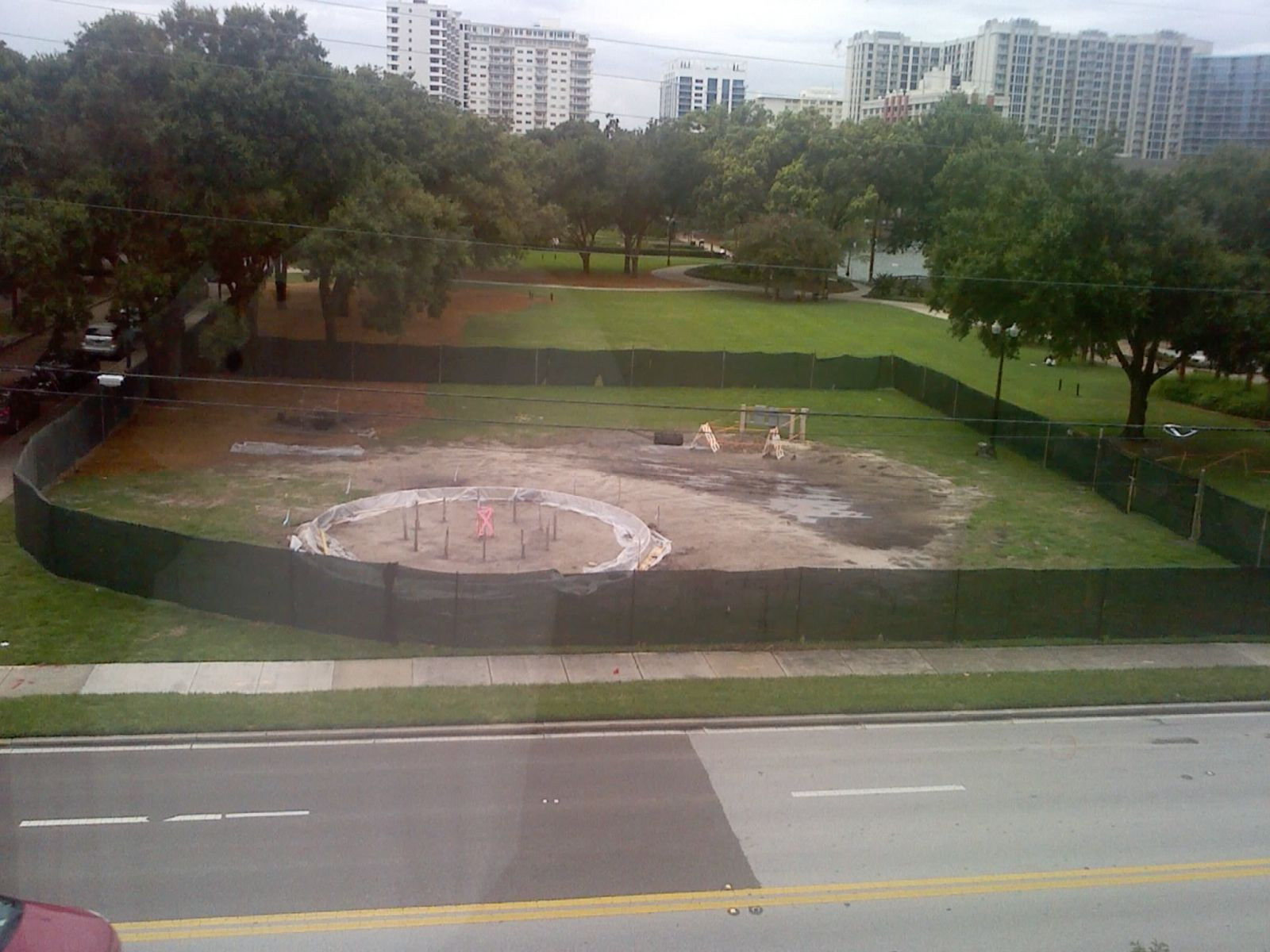 lake eola park construction