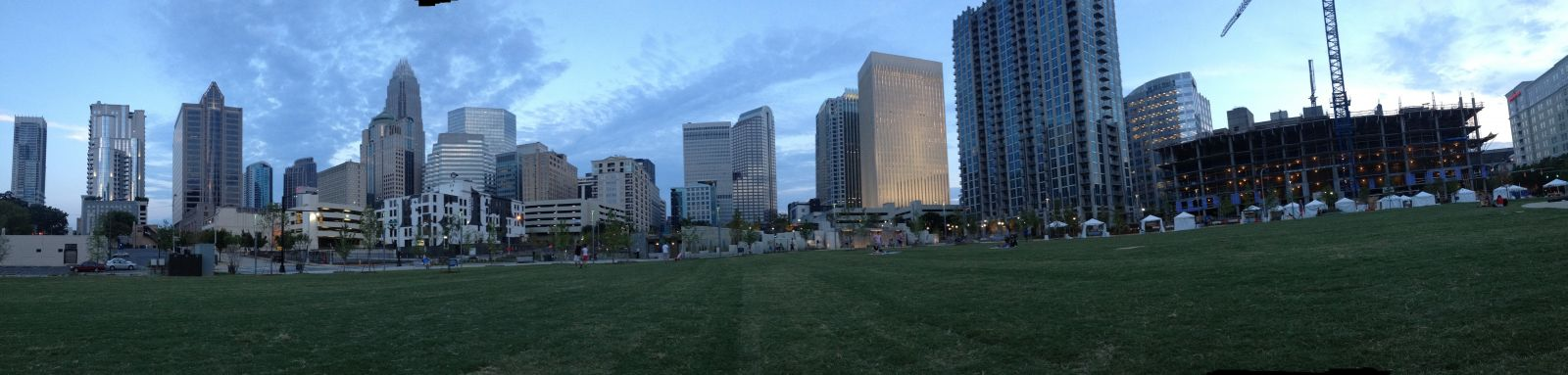 panorama of uptown from Bearden Park