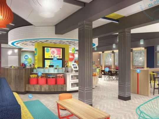 Tru & Home 2 Suites lobby render, July, 2016.JPG