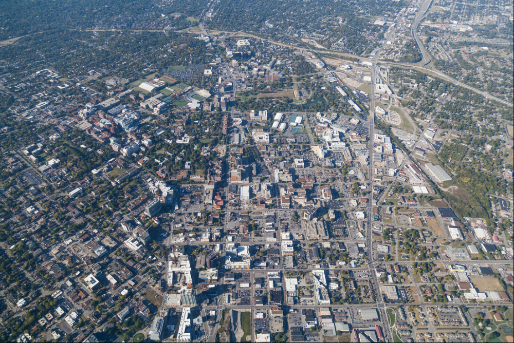 West End and Charlotte corridor, 2016 Aerial Innovations of TN 8, 2016.png