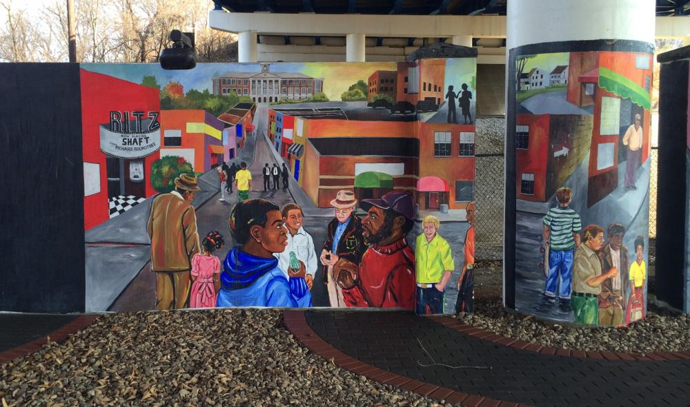Jefferson Street Gateway to Heritage mural 4, Dec 2016.JPG