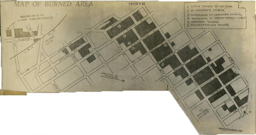 1916 Edgefield Fire map.jpg