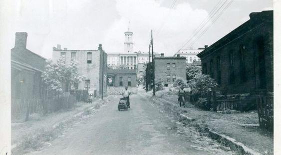 Looking east from Hell's half Acre at Capitol, 1940 x.jpg