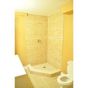 Custom basement shower.