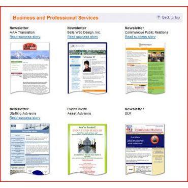 Sample Newsletter Designs
