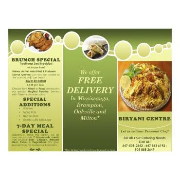 BIRYANI CENTRE flyer