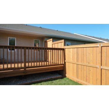 Custom Deck, w/privacy wall and fence