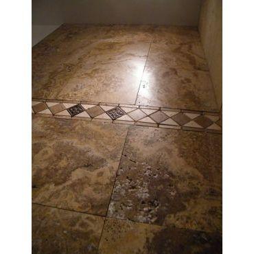 Travertine Shower Wall