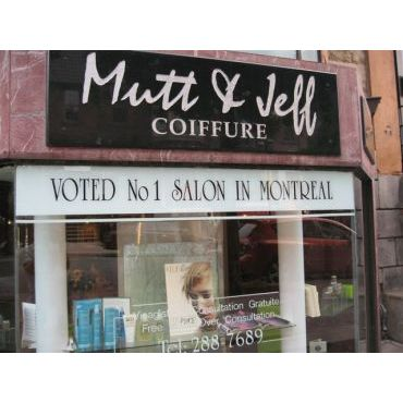 Salon de Coiffures Mutt & Jeff logo