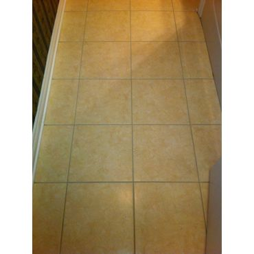 Grout after cleaning by Steam It Out