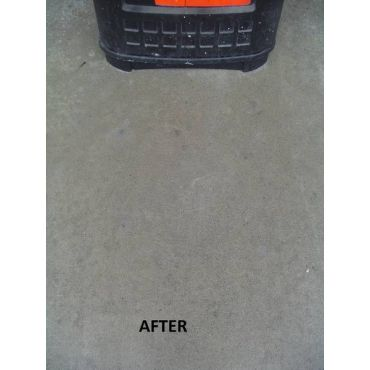 Same area after dry vapor steam cleaning