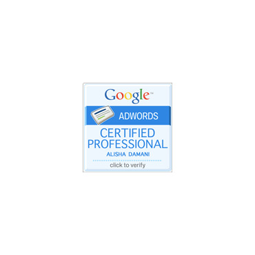 Alisha Damani Google Certification