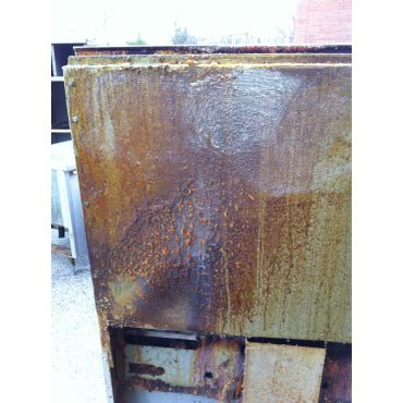 Commercial Oven with built-up grease
