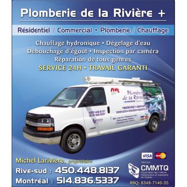 Plomberie de la Rivière logo