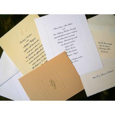 Elegant Engraved Invitations
