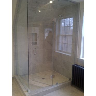 Custom 90 Degree Glass Shower