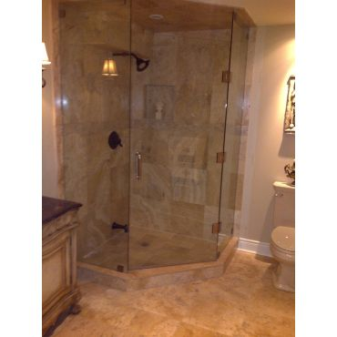 Custom Neo-Angle Glass Shower