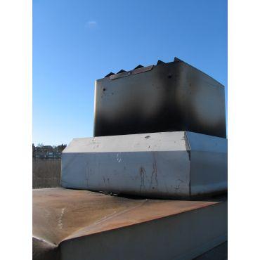 Roofing - Chimney crown rusting, leaking
