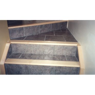 Tile & Hardwood on stairs