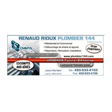 Renaud Rioux Plombier 144 logo