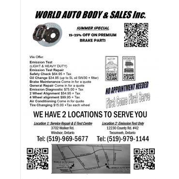 World Auto Body & Sales Inc. logo