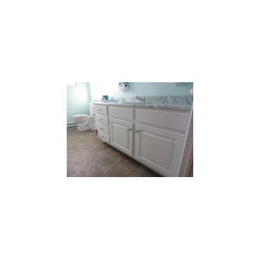 Bath cabinets...soft white finish