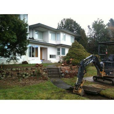 Before: walkway removal & yard scalping