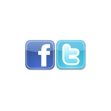 follow us on twitter/Like us on facebook