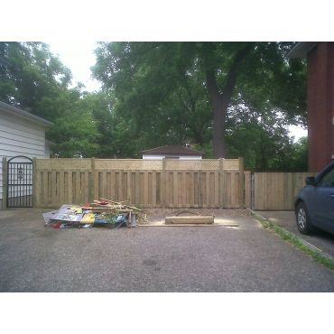 Completed Fence and Gates (minus scrap)