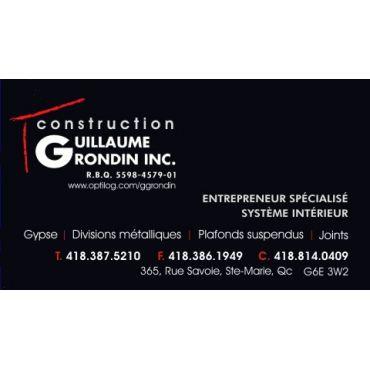 Construction Guillaume Grondin inc. logo