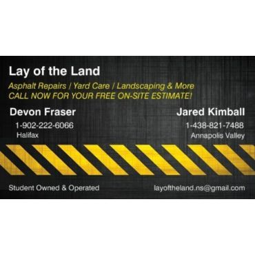 Lay of the Land- Paving, Asphalt Repairs Driveway & Commercial PROFILE.logo