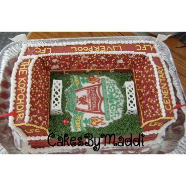Liverpool FC Stadium Birthday Cake