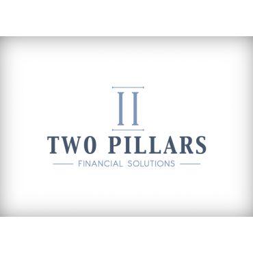 Two Pillars Graphic Design Logo