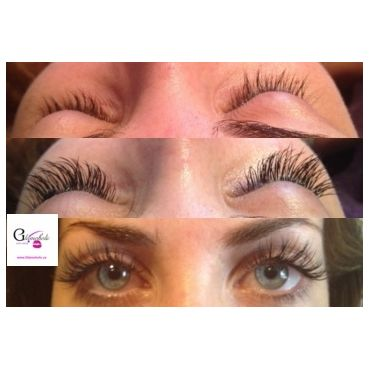 Client with Xtreme Eyelash Extensions