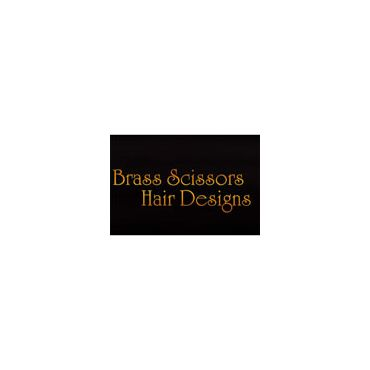 Brass Scissors Hair Designs PROFILE.logo