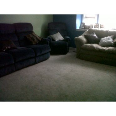 Family room after cleaning