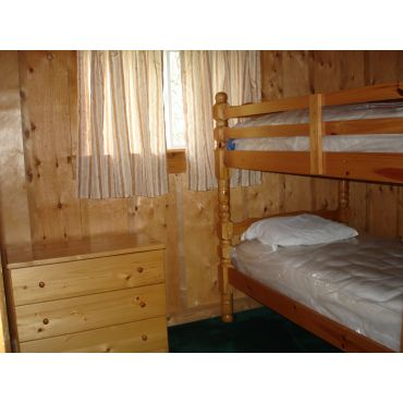 one bedrm with bunk beds in 3BR cottage
