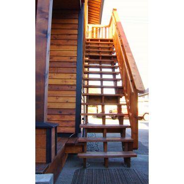 Total Custom Floating Staircase in Cedar