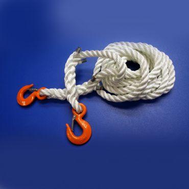 Three-Stranded Nylon Rope with Hooks