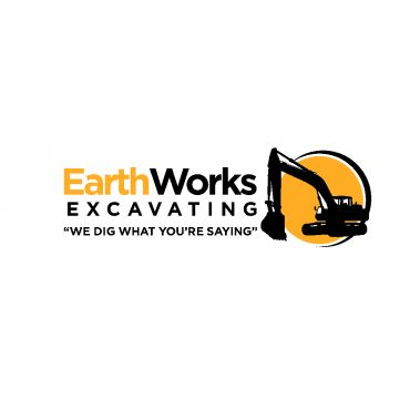 Earthworks Excavating logo