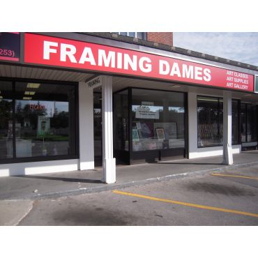 The Framing Dames logo