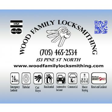 Wood Family Locksmithing logo