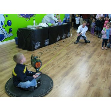Hovercraft fun in the Mad Lab.