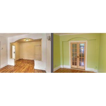 division d'une pièce avec deux portes