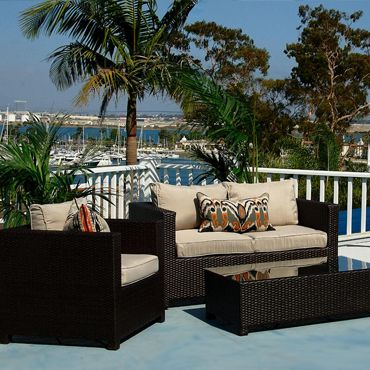 Madrid Outdoor Wicker Sofa Set