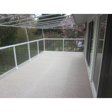 Duradek and aluminum glass railing