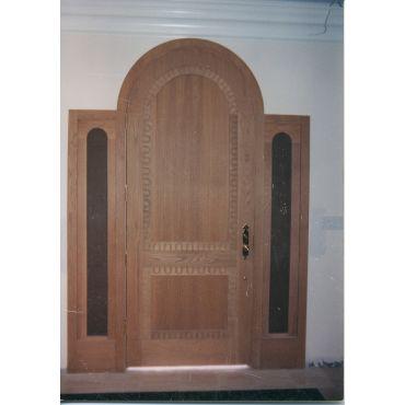 Custom built front door.