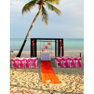 Azul Beach set up by Wedding Butlers
