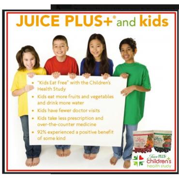 FREE JuicePLUS+ for Kids C.H.S.